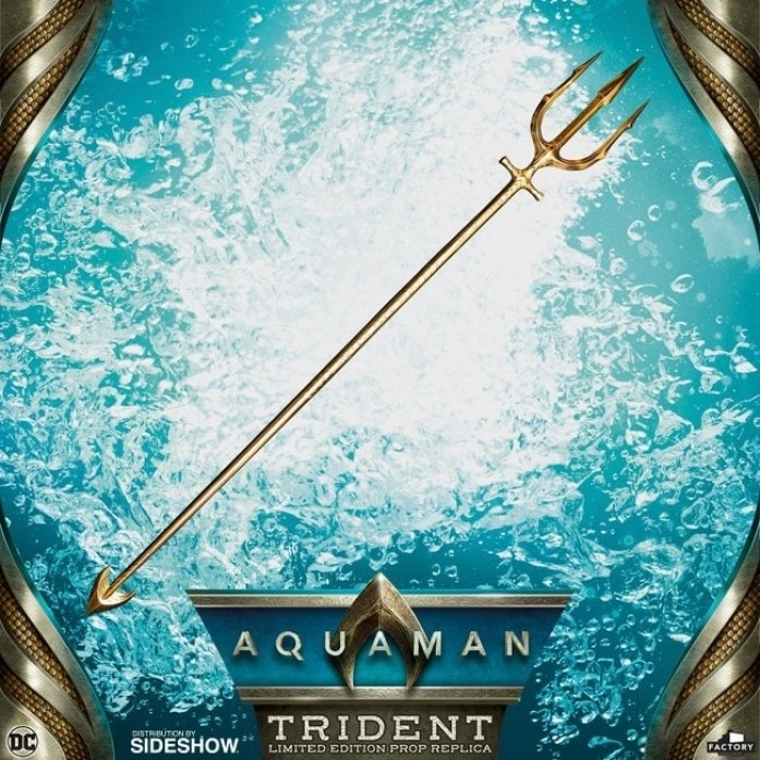 [예약상품][Factory Entertainment] 아쿠아맨 히어로 트리덴트 아쿠아맨 무비 - 프롭 레플리카  (Aquaman Hero Trident Aquaman Movie Prop Replica by Factory Entertainment )
