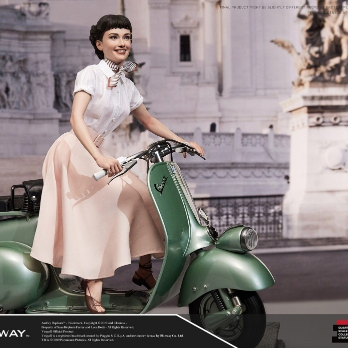 [예약상품][BLITZWAY] 로마의휴일 앤 공주 & 1951 베스파 스쿠터 , Roman Holiday Princess Ann & 1951 Vespa Scuter Superb Scale Statue (1/4 scale) Hybrid type